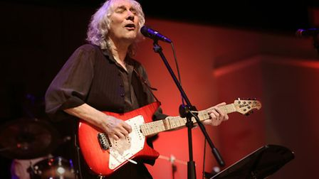 Guitarist Albert Lee who won himself a standing ovation at the end of his concert at the Ipswich Cor