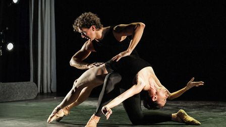 Gary Avis and his partner from the Royal Ballet, Mara Galeazzi, performing Lieder Pas de deux at th