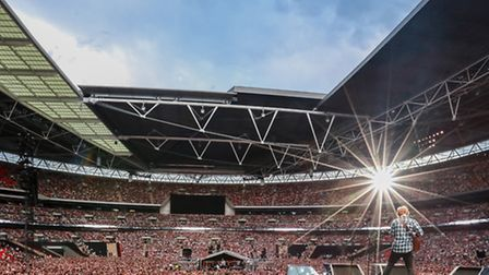 Ed Sheeran's new concert film is centred around his three sold out Wembley performances. Photo by Ch