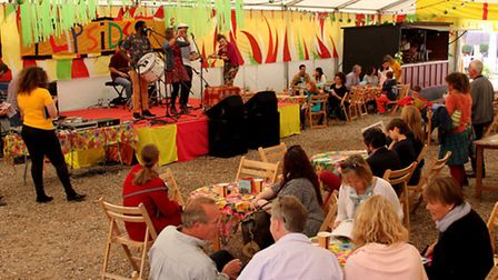 Live music at the Flipside Festival held at Snape Maltings.