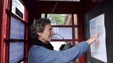 Sheila Dainton uses Aldeburgh Music's Concert in a Phonebox