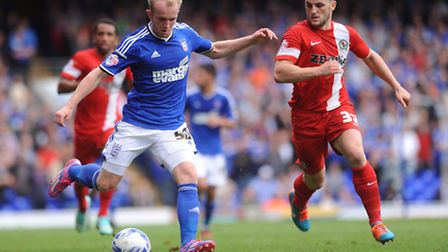 Ipswich Town v Blackburn. Left to right, Jonny Williams and Craig Conway.