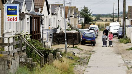A view of a roadway on the Brooklands estate in Jaywick, which has been classed as England's most de