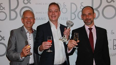 From left, Michael Francis, store manager, Colchester, Robert Smith, dealer principle, Colchester an