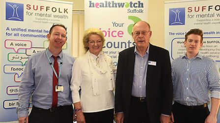 Key speakers at the Suffolk User Forum's Stepping Forward event in Ipswich, (l-r) Peter Devlin, men