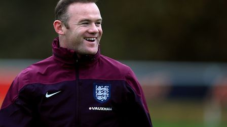 England's Wayne Rooney during a training session at Enfield Training Centre, London. PRESS ASSOCIATI