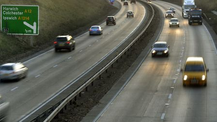 Crash barriers will be replaced near the Copdock interchange.