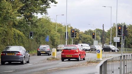The lights have been switched off at the roundabout in Kesgrave.