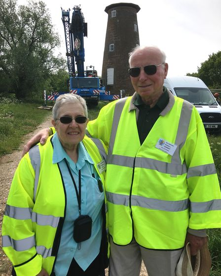 Julie and Herbert Websdell, custodians at Billingford Mill, near Diss, which has been undergoing rep