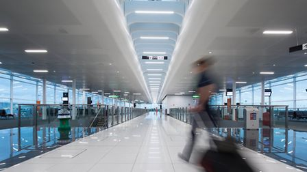 The completed first phase of the �8million upgrade to the Satellite One departures area at Stansted