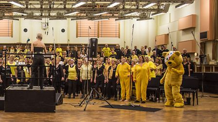 Funky Voices recorded Stop, a medley of Erasure songs, at Maida Vale in aid of Children in Need.