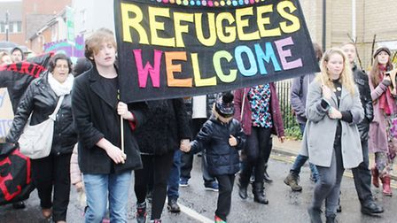 A march through Colchester on Saturday in solidarity with refugees