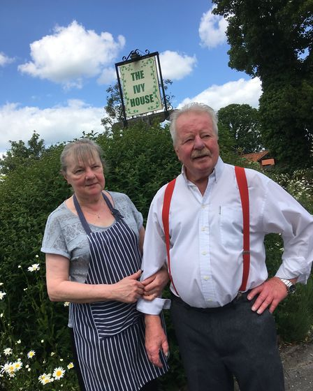 Sue and Egil Stenseth who have run The Ivy House at Stradbroke, near Eye, for over 13 years. Picture