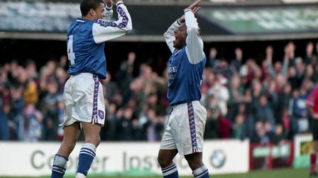High fives for Kieron Dyer and David Johnson as the play-offs beckon