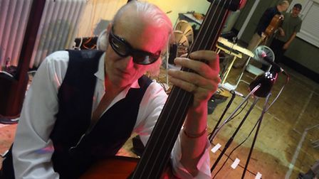 Martin Newell on the double bass