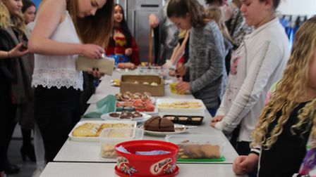 Students at Felixstowe Academy raised more than �220 at a cake sale for Children in Need.