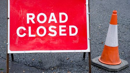 Motorists face disruption after the closure of the B1077 at Stuston. Picture: Getty