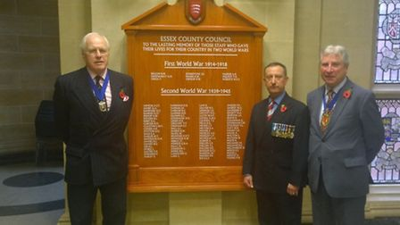 New plaque unveiled at County Hall, Chelmsford, commemorating Essex County Council staff who died in