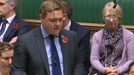 Will Quince speaking in the House of Commons.
