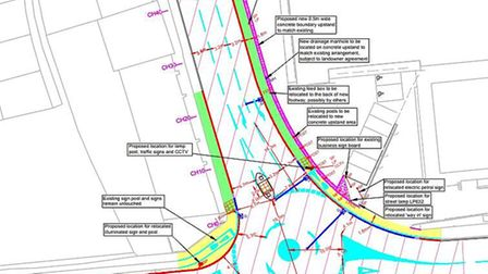 Plans would see the mini- roundabout in Diss increased in size and an extra land added on the approa