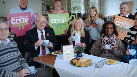 EADT editor Terry Hunt and Minnie Moll from the East of England Co-op enjoying a Co-op cuppa at Kirt
