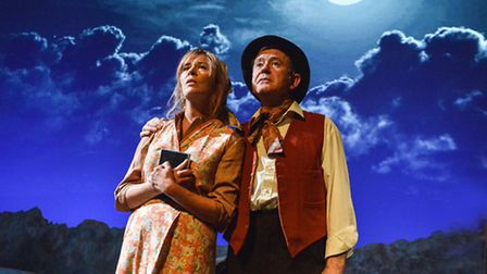 Lucy Tregear (Frau Wolf) & John O'Mahony (Herr Wolf) in The Silver Sword at the New Wolsey Theatre