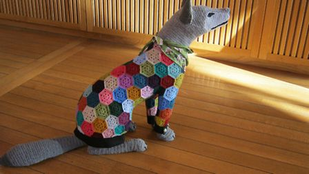 March Hare Collective�'s crochet wolf.