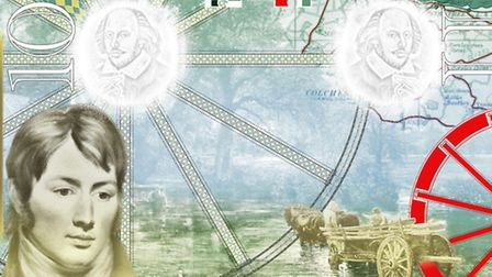 Two pages, featuring John Constable, from the new British passport design that have been unveiled at