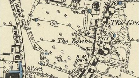 1886 Ordnance Survey Map shows Parish Fields and the Lawn. Picture: Diss Town Council