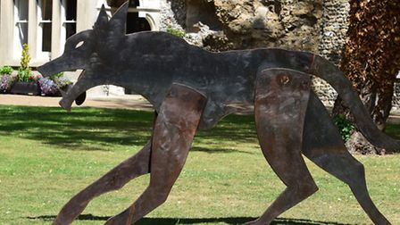 The Bury st. Edmunds Wolf Trail. Some of the 26 Wolves placed around Bury st. Edmunds.