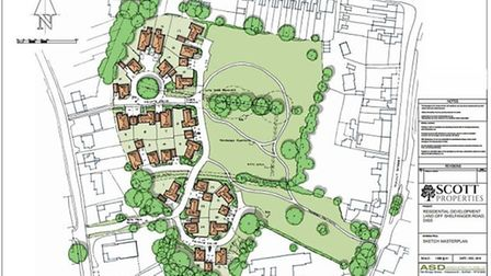 Outline proposals would see 24 retirement bungalows built on just under half of Parish Fields in Dis