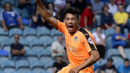 Macauley Bonne, who completed his U's hat-trick early in the second half at Wealdstone today