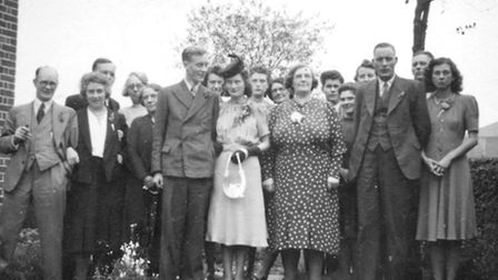 Jim and Pat's wedding in 1941