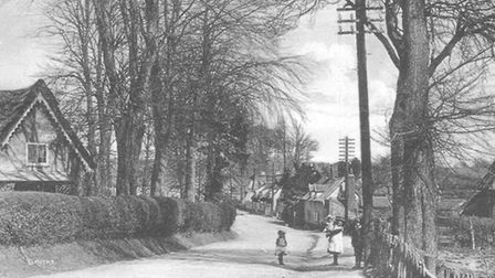 High Street, Ufford, in about 1910
