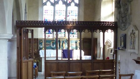The Ufford War Memorial - St Leonard�s Chapel, in the Church of St Mary of the Assumption