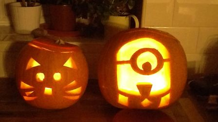 Sam, Stacey, Florence and Beatrice Dean carved these pumpkins at the weekend - have you done your ye