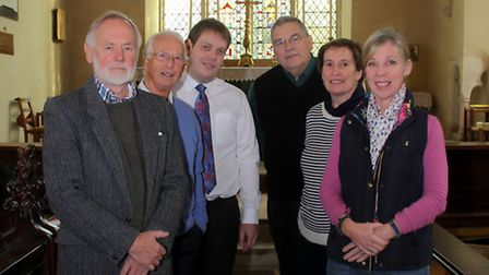 Composer Lee Merrit at St Mary's Church, Ufford the village is the subject of his new hymn written w