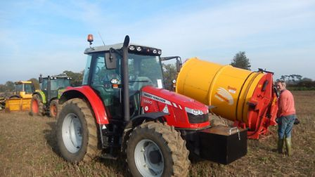 The MX tractor which made £22,000 and the straw chopper which sold for £5,400.