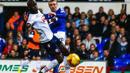 Freddie Sears had an attempt late in the first half saved during the Ipswich Town v Bolton Wanderers