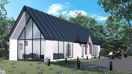 Illustration of how holiday lodges planned for land in Garboldisham could look. Picture: Parker Plan
