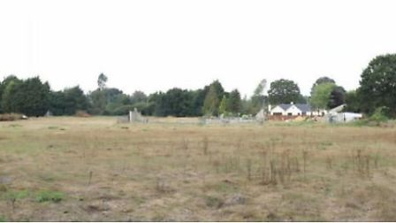 The land off Hopton Road in Garboldisham where plans have been submitted for holiday lodges. Picture