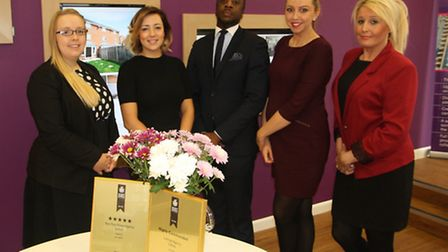 Some of the award-winnimng team at haart, Ipswich estate agents