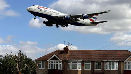 File photo dated 04/08/15 of a British Airways Boeing 747 over houses in Bedfont, Hounslow, on its a
