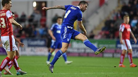 Daryl Murphy seals his hat-trick at Rotherham on Saturday