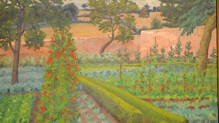 Wartime Garden by Cedric Morris inspired by Constable's Flower and Kitchen Garden paintings which ar