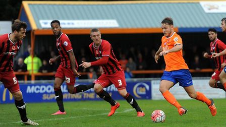 Braintree Town v Oxford United - FA Cup action.