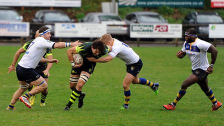 Bury v Old Elthamians rugby action.
