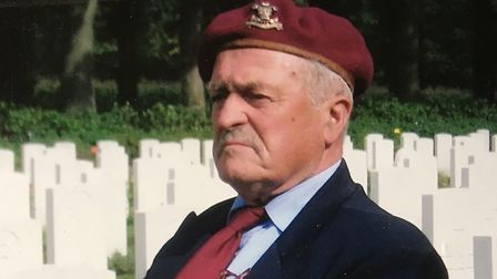 Tom Bowden at the Arnhem war cemetery. Picture: Bowden Family