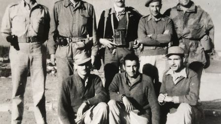 Tom Bowden (back centre) with the 7th brigade of the Israeli Army in 1948. Picture: Bowden Family