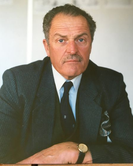 Tom Bowden, pictured in 1986, moved to Norfolk in 1955 first as a farmer in South Lopham, near Diss,
